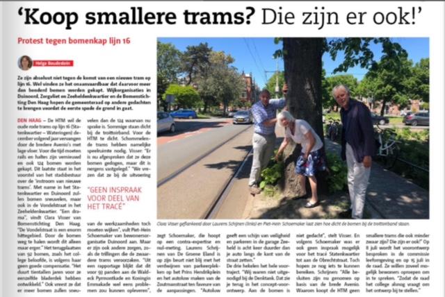 Koop smallere trams die zijn er ook!